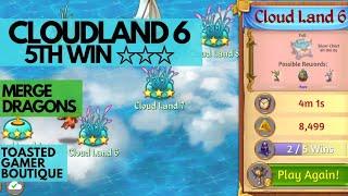 Merge Dragons Cloudland 6 • 3 Stars On 5th Win ☆☆☆