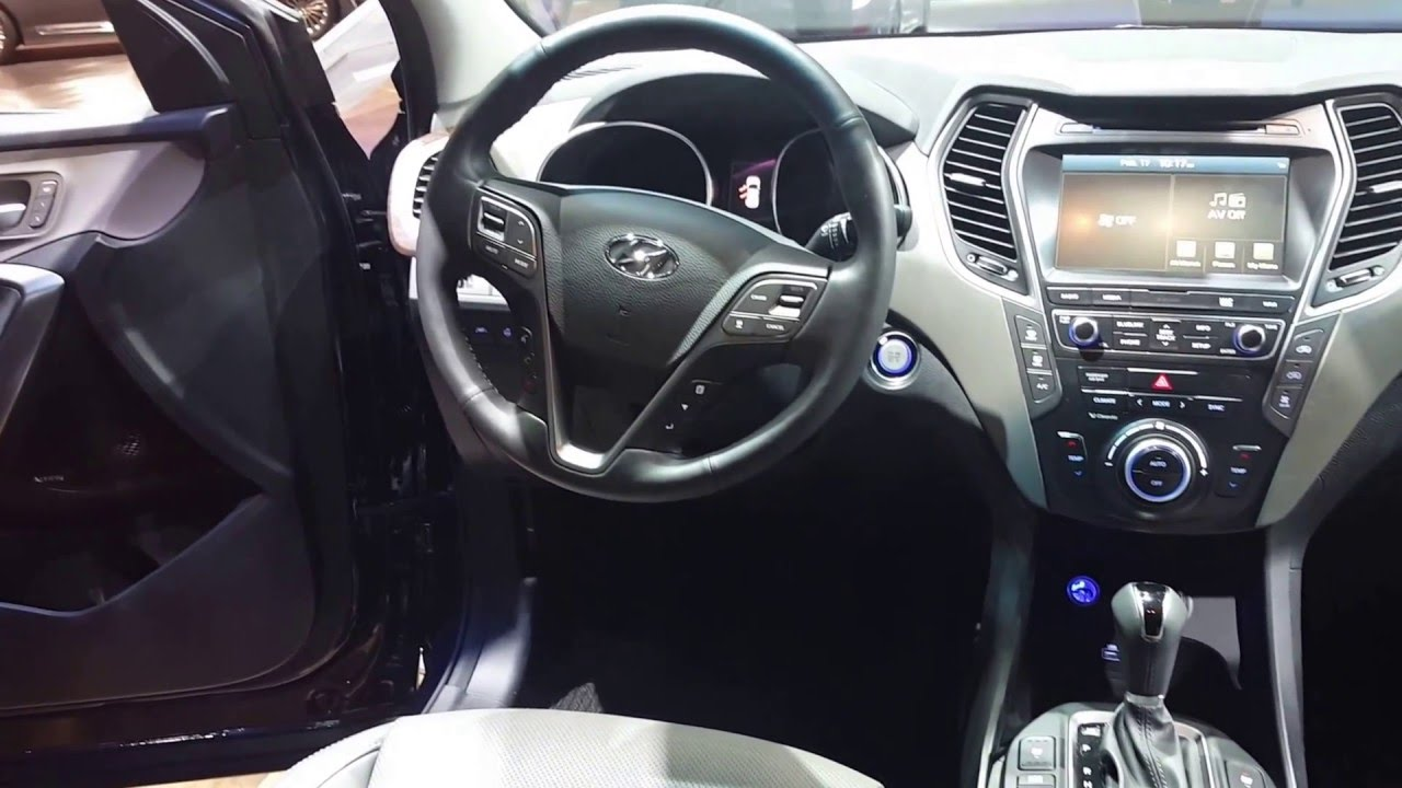 2017 Hyundai Santa Fe Interior 2017 Chicago Auto Show Youtube