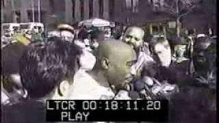 2PAC interview:  outside of the court  house