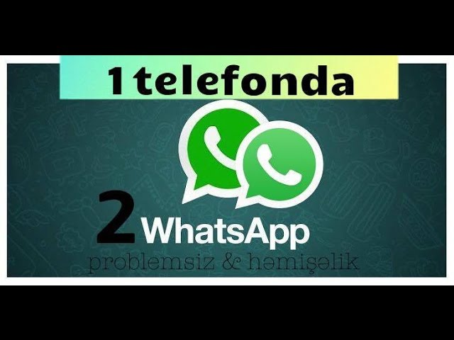 1 Telefonda 2 Whatsapp Viber Facebook Pulsuz Asan Və Problemsiz Youtube