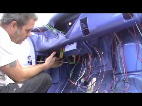 1955 chevy pu daves day 1             begin installing the new wiring  system - youtube