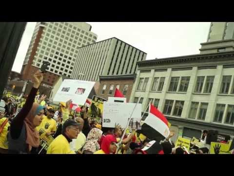 Canadians Pro-Democracy protest the bloodshed and illegitimate military coup in Egypt (3)