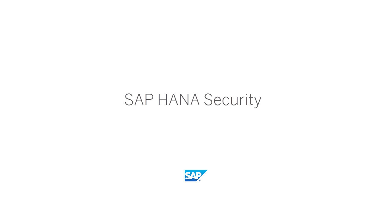 [2017] SAP HANA Security - Documentation: Data-at-rest Encryption Services  - SAP HANA Academy