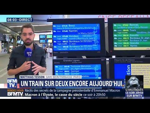 Toujours un train sur deux circule ce lundi à la gare Montparnasse