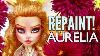Repaint! Royal Pastel Pink Kitsune Fox |Monster High Ooak Art Doll | Custom Figure OOAK Doll Process