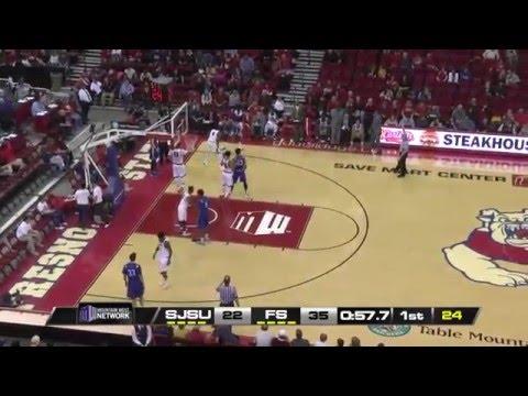 NCAA Basketball.  San Jose State @ Fresno State Men's Basketball 16.01.17