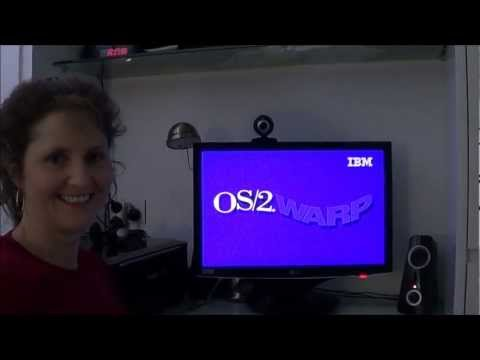 Mum tries out OS/2 Warp 4 (1996)
