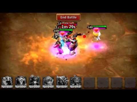 Castle Clash- Boss 3 Perma Stun Walk-through For 3 Minutes