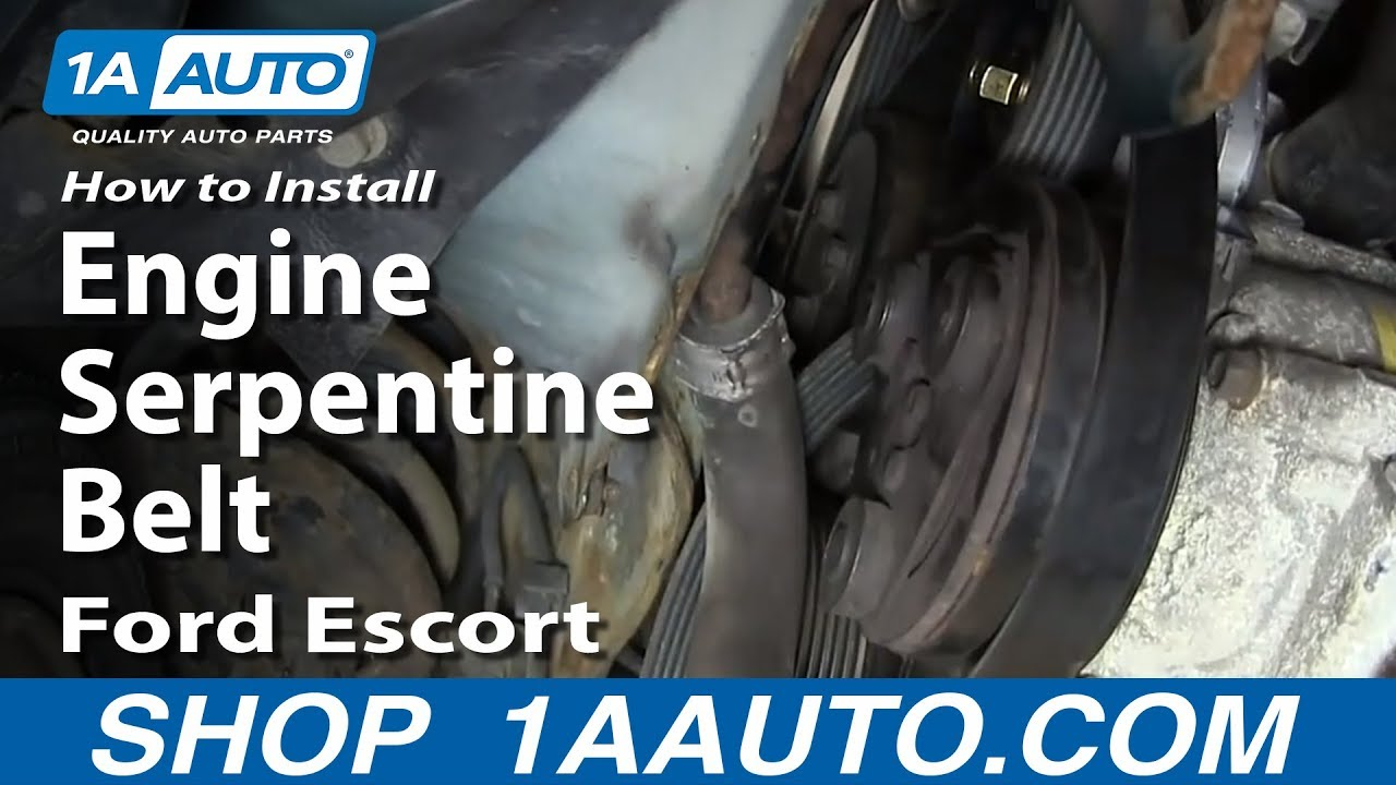 Ford 2 9l Engine Diagram How To Install Replace Engine Serpentine Belt Ford Escort