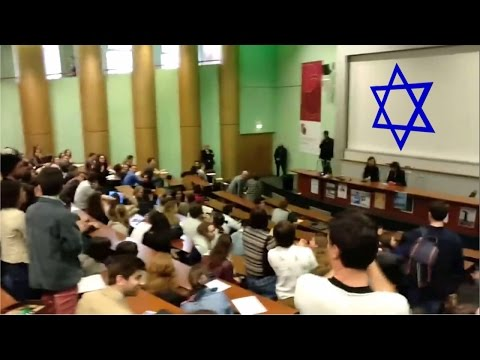 Brave French Students Stand Up to Israeli Ambassador! | Free Palestine