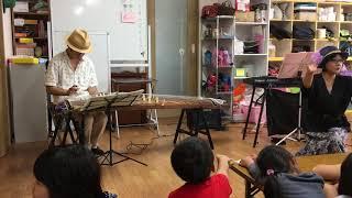 演奏先で、琴の調弦中に子どもたちが飽きてしまうので、 ほ、ほ、ほーた...