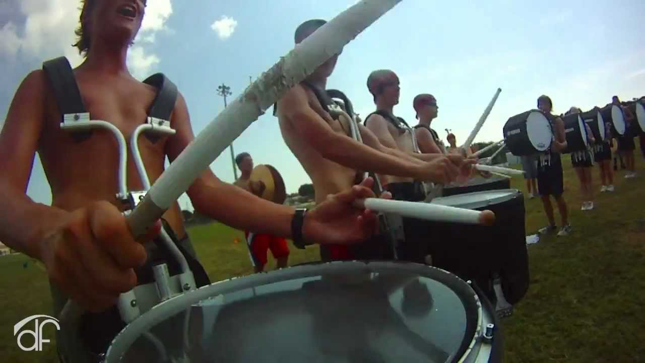 Shirtless And Marching To His Own >> Vero Beach High School Band Drum Cam 2011 Youtube
