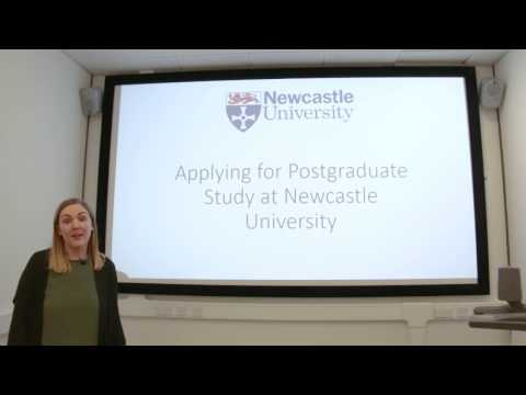Applying To A Postgraduate Course at Newcastle University