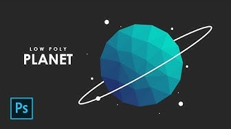 How to create a Low Poly Flat Design Planet in Photoshop - Photoshop Tutorials