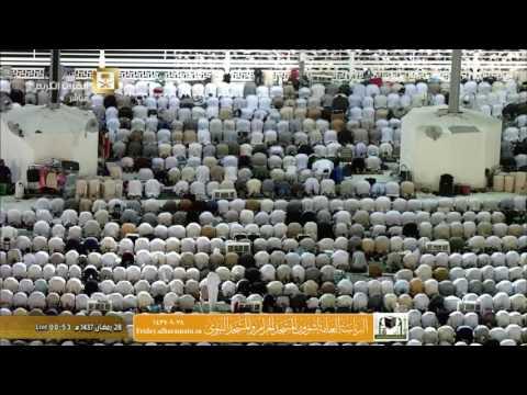 صلاة التهجد ليلة 28  رمضان 1437 : الشيخين سعود الشريم وخالد الغامدي
