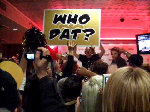 Bobby Hebert Leads Who Dat! Chant