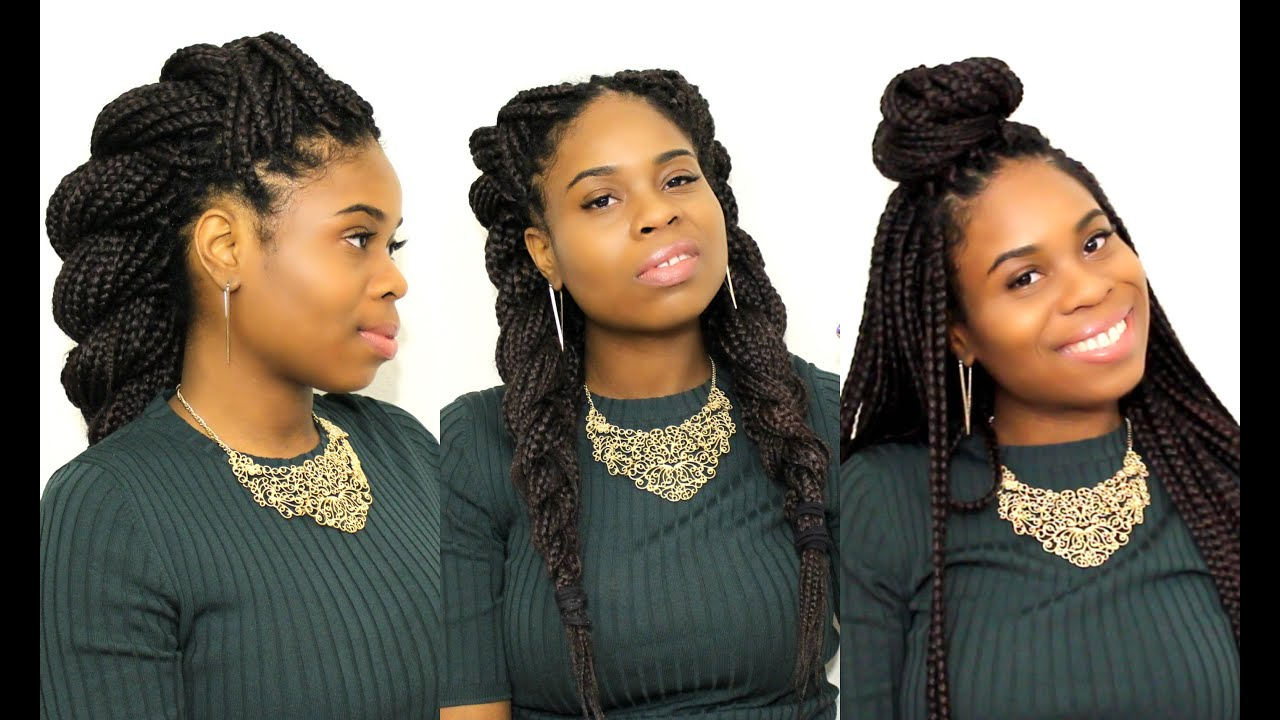 top 7 hairstyles for box braids/senegalese twist!