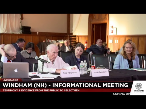 LIVE Hearing - Windham (NH) Information Meeting