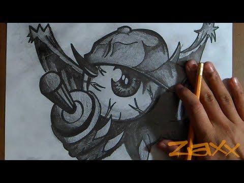 dibujo de un Ojo Mutante   Graffiti   ZaXx - YouTube
