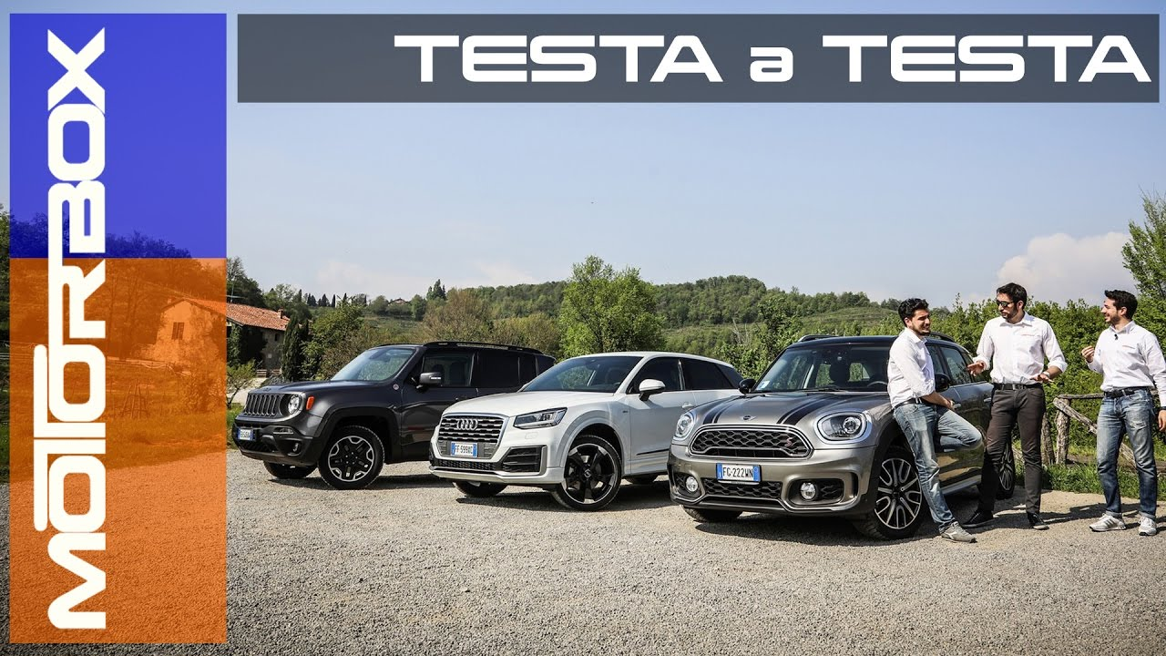 Jeep Renegade Vs Audi Q2 Vs Nuova Mini Countryman Suv A Confronto