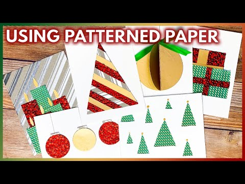 diy-christmas-cards-using-patterned-paper-|-easy-holiday-cards