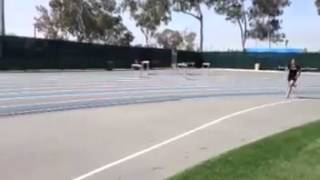 Girl's Track Hurdle Steeplechase Fail