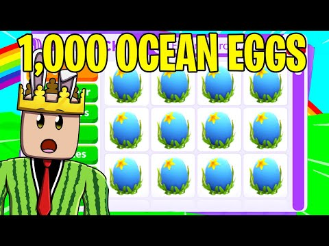 I OPENED AND TRADED 1000 OCEAN EGGS (ADOPT ME)