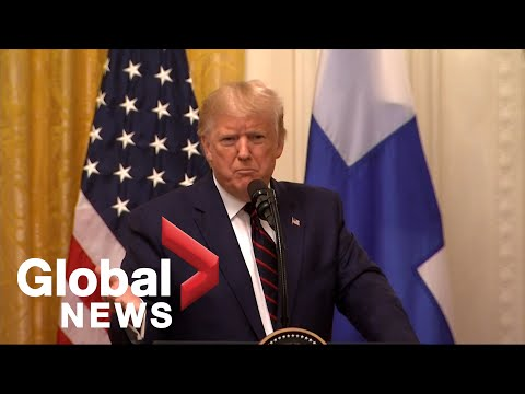 Donald Trump holds press conference with President of Finland | FULL