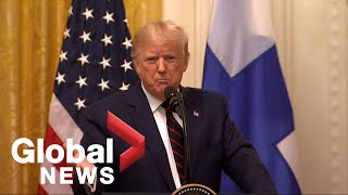 Donald Trump holds press conference with President of Finland   FULL