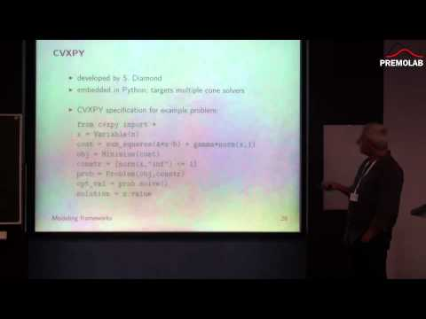 Stephen Boyd. Domain-Specific Languages for Convex Optimization. 13.05.2015