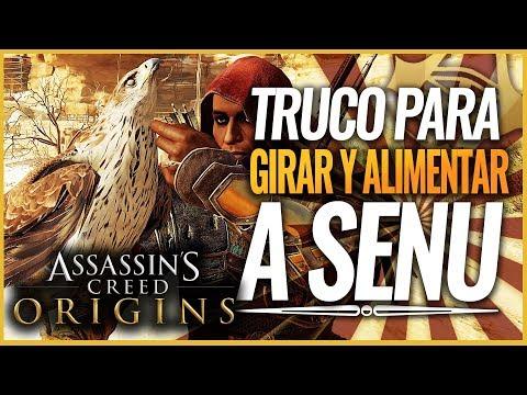 Assassin's Creed Origins | TRUCO como Alimentar, acariciar a SENU y hacer el TORBELLINO (Girar)