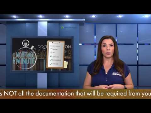 3 document types needed for loan approval - Loan documentation needed for a mortgage application