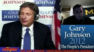 If Student Loans Were Not Guaranteed College Tuition Would Be Alot Lower - Gary Johnson Web Q&A 11-2