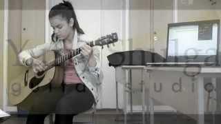 Анастасия, ученица школы игры на гитаре. Играет Limp Bizkit - Behind blue eyes.