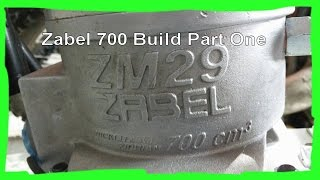 Zabel 700 Dirtbike Build Part 1:  Mounting the engine to the frame