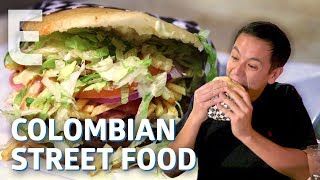 The Giant Arepa Burger Born out Of Colombia's Street Food Wars - Dining on a Dime
