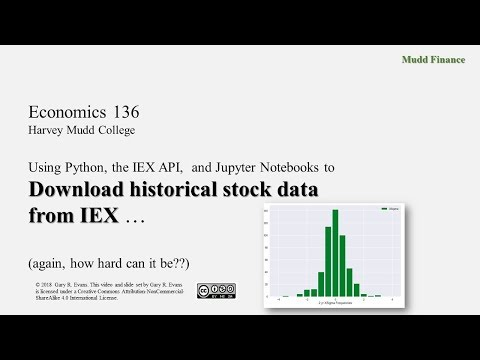 Downloading stock data from IEX