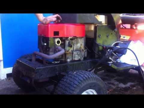 Montaje del motor briggs stratton i c 12 5 en el tractor - Tractor cortacesped mtd ...