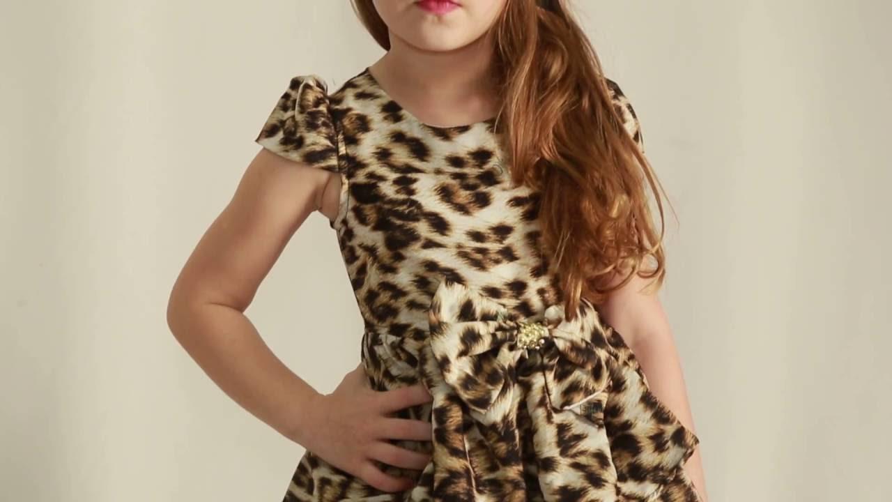 a7ba2db72 vestido infantil diforini moda infanto juvenil 010781 - YouTube