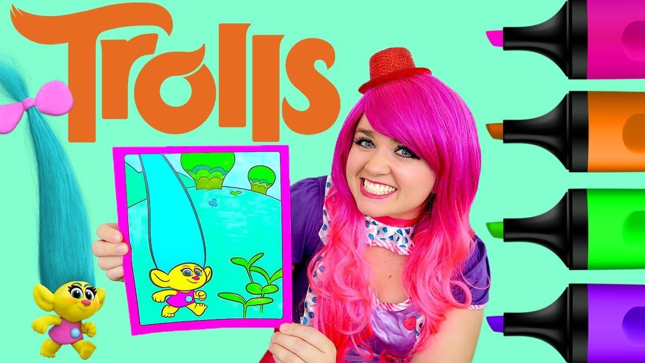 Coloring Trolls Smidge Crayola Book Page Prismacolor Colored Markers
