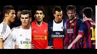 Best football skill show 2014 | ronaldo vs messi vs neymar vs bale vs suarez vs ibrahimovic  part 2