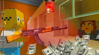HOMER SIMPSON ROBS A BANK | The Simpsons | Minecraft