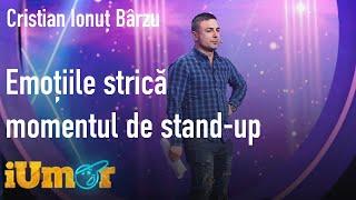 Emoțiile strică momentul de stand up comedy al lui Cristian Ionuț Bârzu. Mihai Bendeac: