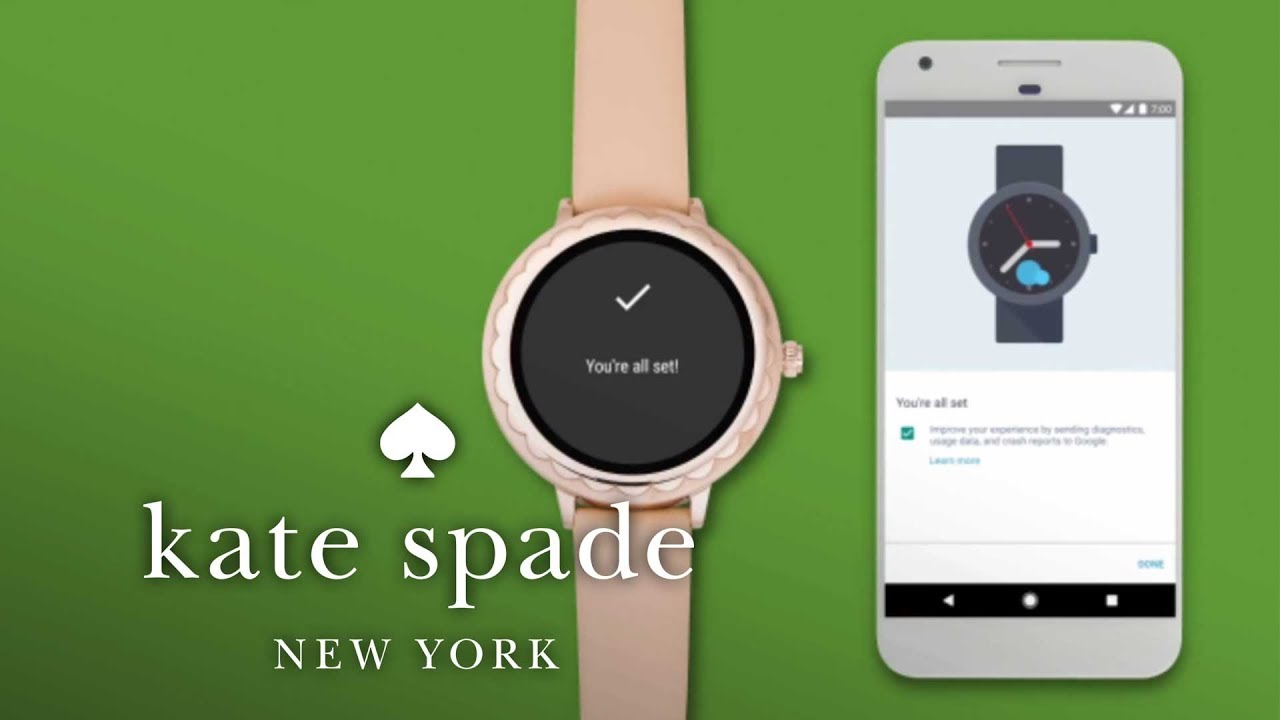 How To Set Up Your Kate Spade Touchscreen Smartwatch Kate Spade