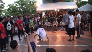 九州男児 Jr vs MadFocus BBOY PARK 2013 U20 breaking crew battle Quarter finals 3rd Battle