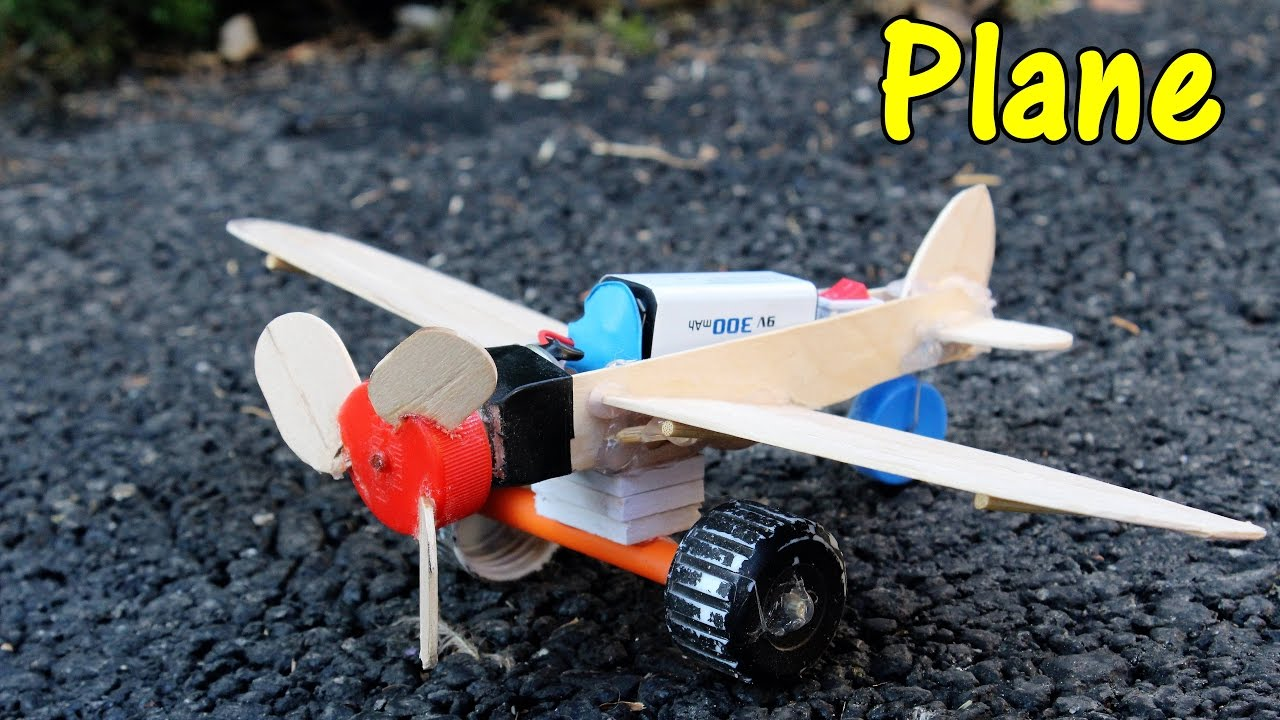 How To Make A Battery Powered Plane Using Dc Motor Youtube