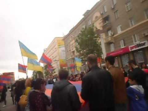 24 апреля в День памяти жертв Геноцида армян в Днепропетровске