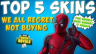 TOP 5 RAREST SKINS IN FORTNITE YOU REGRET NOT BUYING - Fortnite Battle Royale Most Wanted Skins