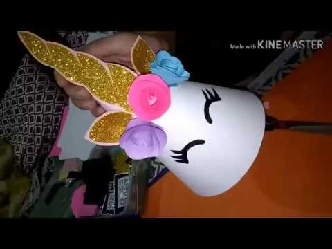 how to make A paper cap|paper cap | unicorn theme