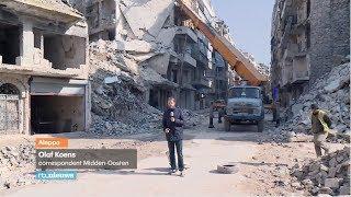 Inwoners Aleppo proberen stad weer op te bouwen